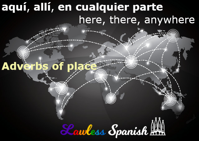 Spanish adverbs of place