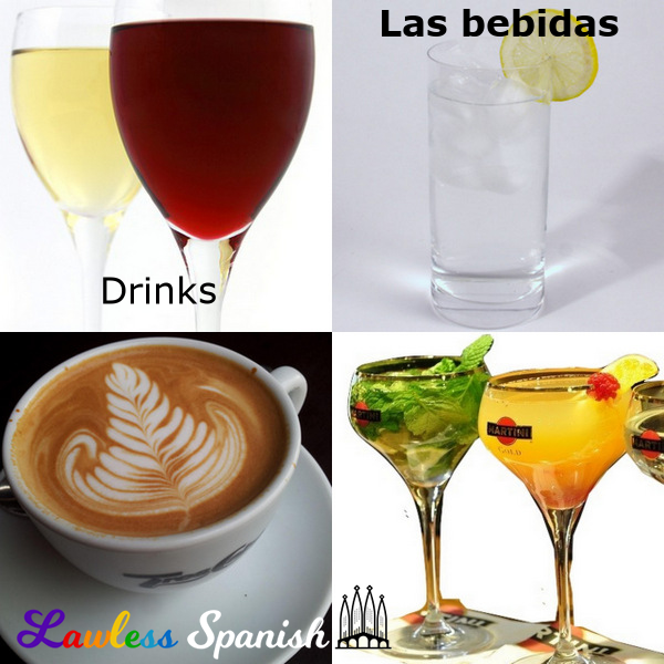 Bebidas - Spanish vocabulary