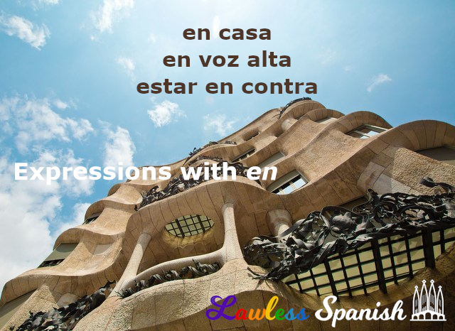 Spanish expressions with en