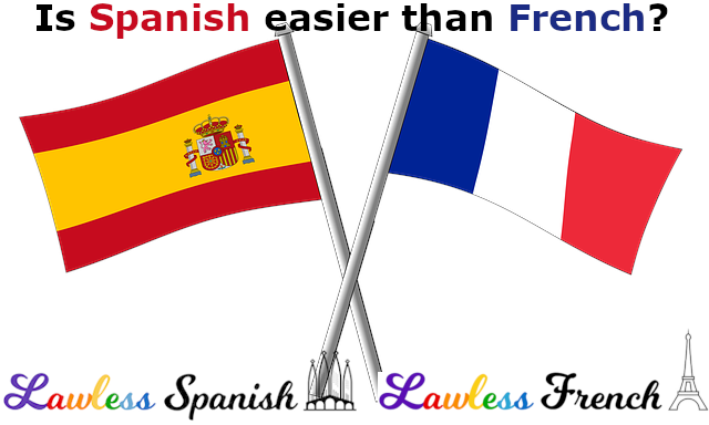 Is Spanish easier than French?