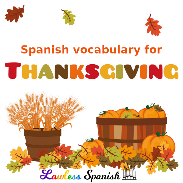 Spanish Thanksgiving vocabulary