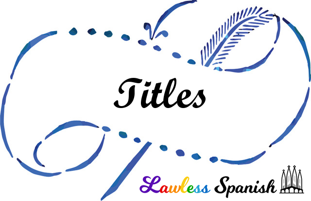 Titles in Spanish