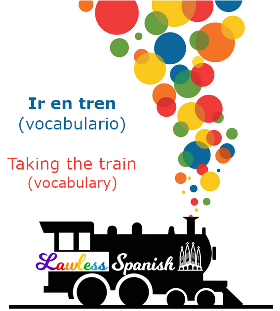 Spanish train vocabulary