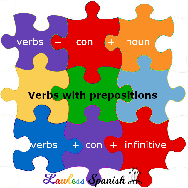 Spanish verbs followed by con