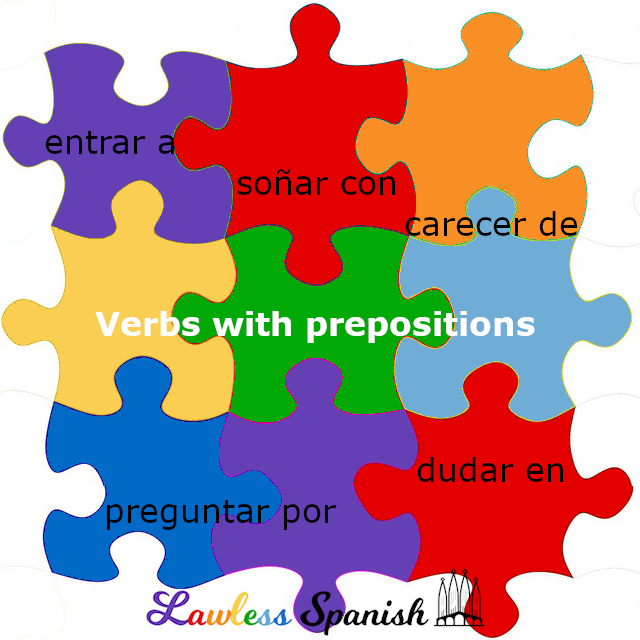 Spanish verbs with prepositions
